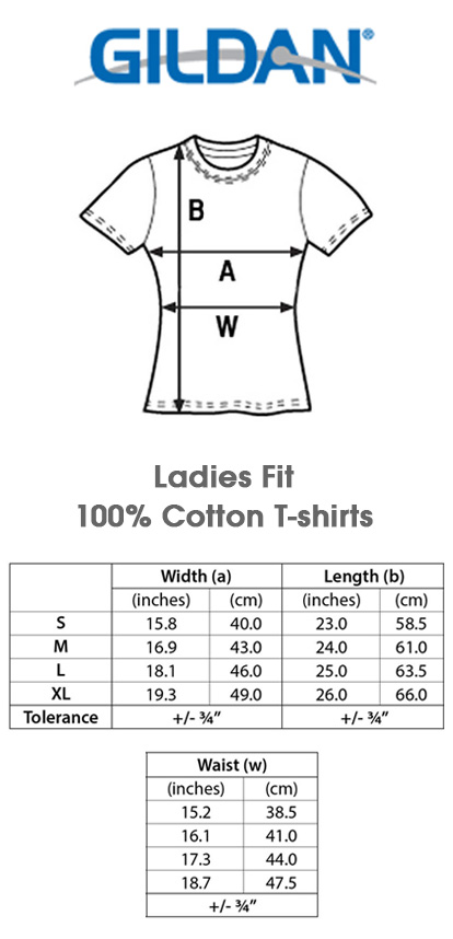 Duterte 2016 du30 iron fist ladies t shirt white ebay for Gildan brand t shirt size chart